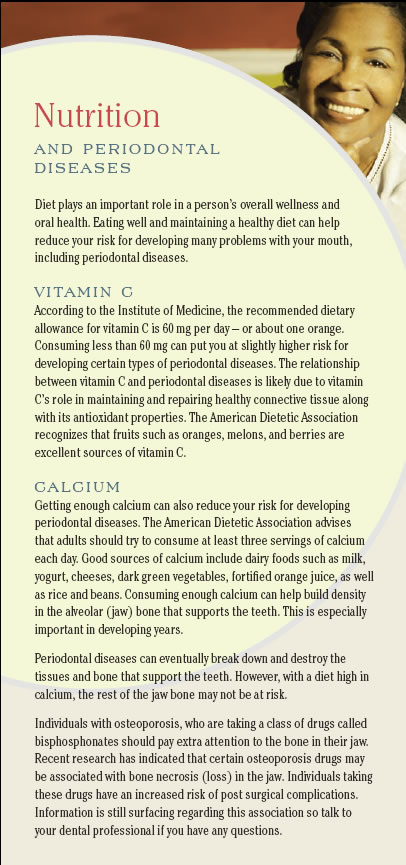 Nutrition and periodontal disease page1